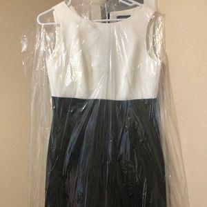 Gorgeous white and black Tahari dress